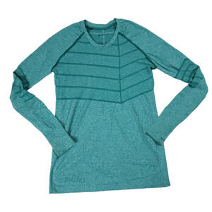 Oiselle Green Birds of a Feather Long Sleeve Top
